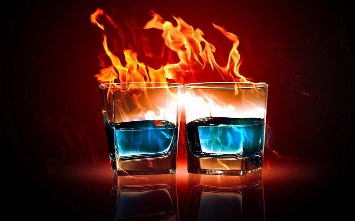 горящая водка