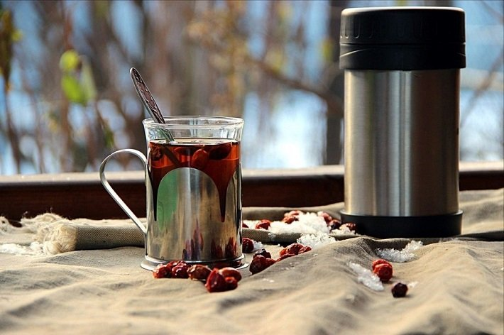 чай в термосе