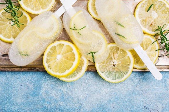 лимон во льду