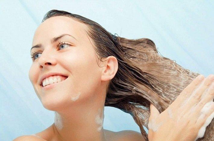 мылом волосы