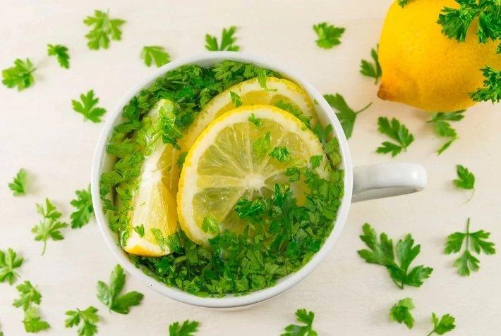 лимон с петрушкой