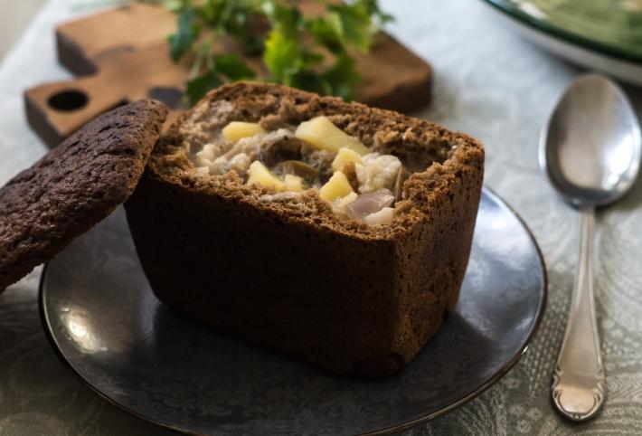 блюда в хлебе