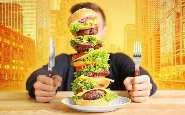 Большой гамбургер